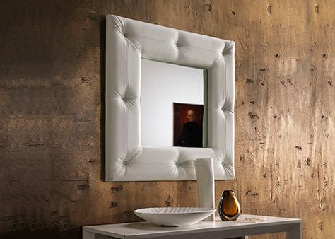 Квадратное зеркало мягкая рама Чебоксары