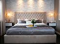 Фотография №13 интерьер спальни кровать с каретной стяжкой