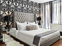 Фотография №14 интерьер спальни кровать с каретной стяжкой