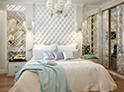 Фотография №18 интерьер спальни кровать с каретной стяжкой