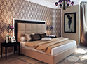 Фотография №2 интерьер спальни кровать с каретной стяжкой