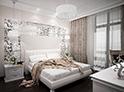Фотография №28 интерьер спальни кровать с каретной стяжкой
