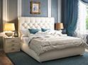 Фотография №33 интерьер спальни кровать с каретной стяжкой
