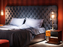 Фотография №35 интерьер спальни кровать с каретной стяжкой