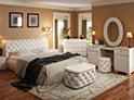 Фотография №38 интерьер спальни кровать с каретной стяжкой