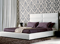 Фотография №40 интерьер спальни кровать с каретной стяжкой