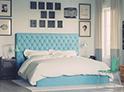 Фотография №42 интерьер спальни кровать с каретной стяжкой