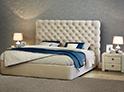 Фотография №45 интерьер спальни кровать с каретной стяжкой