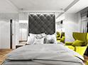 Фотография №46 интерьер спальни кровать с каретной стяжкой
