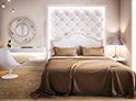 Фотография №5 интерьер спальни кровать с каретной стяжкой
