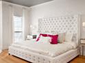Фотография №50 интерьер спальни кровать с каретной стяжкой