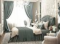 Фотография №51 интерьер спальни кровать с каретной стяжкой