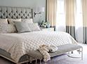 Фотография №52 интерьер спальни кровать с каретной стяжкой