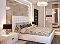 Фотография №56 интерьер спальни кровать с каретной стяжкой