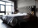 Фотография №58 интерьер спальни кровать с каретной стяжкой