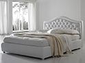 Фотография №6 интерьер спальни кровать с каретной стяжкой